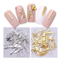 Gold Silver Nail Studs 3D Nail Art Decoration Metal Alloy Bee Rod  DIY