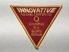Innovative Folding Carton Co Q Committed Quality Attitude Packaging Drug Patch A