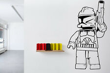 Wall Room Vinyl Sticker Mural Decal Star Wars Stormtrooper Lego Film Game O102