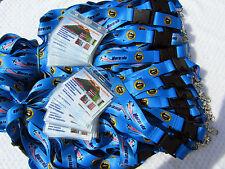 100 x Custom Printed cordini con Fibbia & Clip Metallo Forte - 25mm + 100 X ID