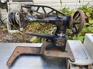 Vtg Singer 29-4 29K-51 Sewing Machine Cast Iron Base Stand Holder