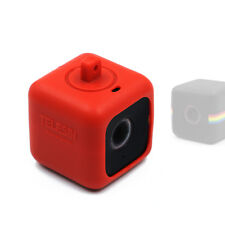 Telesin Red Protective Pendent Case with Necklace Lanyard for Polaroid Cube+