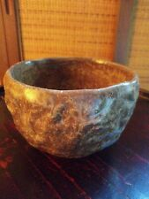 """Japan China Iraho tea ceremony hand thrown clay bowl antique signed marked 4.5""""W"""