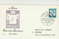 Germany Berlin 1962 Celeb. 50 Yeats Airmail Slogan Cancel Stamps Cover Ref 24471