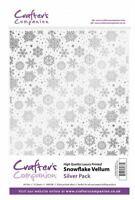 Crafter's Companion Scrapbooking Craft Snowflake Vellum - Silver (160gsm)