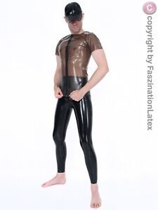 Latex Leggings mit Zipper für SIE UND IHN - SCHWARZ - Größe zur Auswahl