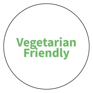 """Vegetarian Friendly"" Food Allergy Labels - Green - 19mm (117 per sheet)"