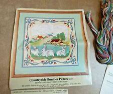"Something Special Candamar Designs ""Countryside Bunnies"" Crewel Embroidery Kit"