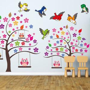 Wandtattoo Fürs Kinderzimmer, Baby. Sticker Aufkleber Bunte Vögel SDB6
