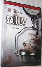 Saw IV DVD, 2008, Widescreen it's A Trap Horror Tobin Bell, FREE SHIPPING U.S.A.