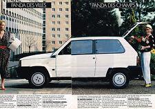 PUBLICITE ADVERTISING 054  1986  FIAT PANDA   des villes & des champs ( 2 pages)