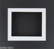 PEQUEÑO NEGRO Caja Profunda marco fotos MEDALLAS 3d OBJETOS Arte Bebé Piedras