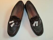 $148 New in box Johnston & Murphy leather Aragon II Black & Brown shoes 10 D