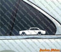 2X Lowered car stickers - for Alfa Romeo 105 / 115 GTV Coupe junior Classic