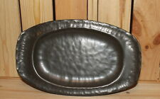 Vintage hand made wrought metal serving tray