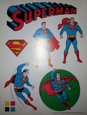 Superman ORIGINAL 1975 DC PROOF Color Character Model Art Pg. Pepsi Glass MEGO +