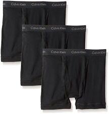 $64 CALVIN KLEIN UNDERWEAR MEN'S BLACK U3019 CLASSIC 3-PACK BOXER BRIEFS SIZE M