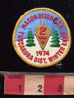 Vtg 1974 TUSCARORA DISTRICT MASION DIXON BSA WINTER KAMP BOY SCOUT Patch 78YE