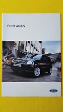 Ford Fusion 1 2 3 + Plus 1.4 1.6 brochure sales catalogue March 2005 MINT
