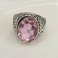 Vintage jewelry 316L Stainless Steel Vogue Design Mini Stone Ring USA Size 8 !