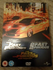 The Fast And The Furious Steelbook - 3 Film DVD PAL Collection - Great Condition