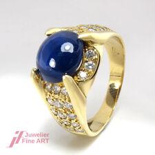 Ring feinste Saphire ca. 3 ct & 36 Diamanten ca. 1 ct TW-VVS - 18K/750 Gelbgold