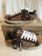 Odessa Quba Boys Mens Brown Chocolate Tan White Suede Skate Shoes UK Size 7 BNIB