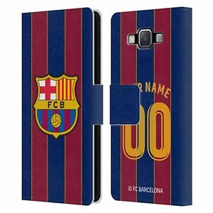 PERSONALISED FC BARCELONA 2020/21 KIT LEATHER BOOK CASE FOR SAMSUNG PHONES 2
