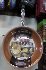 Telebrands Red Copper 10 inch Frying Pan As Seen On TV Ultra Tough Ceramic
