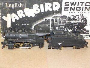 John English HO A5 Yardbird 0-4-0 Steam Locomotive & Tender RUNS OB