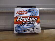 Berkley FireLine Micro Ice Crystal 10 lb test 50 yards Nip