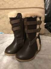 Rachel shoes lil WINDSOR Infant Girls Brown Winter Fashion Wedge Boots size 5M