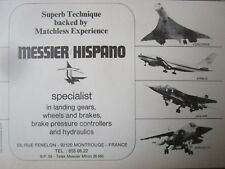 9/1974 PUB MESSIER HISPANO ROUE FREIN CONCORDE AIRBUS JAGUAR MIRAGE F1 FRENCH AD