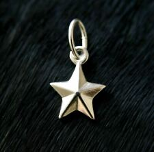 Silver 925 Star Charm Pendant Ideal for Bracelet Or Necklace A35P