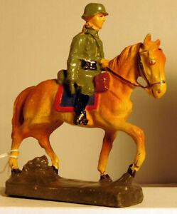 Elastolin Soldier in Horseback #1