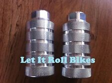 """NEW OVERSIZED BICYCLE ALLOY PEGS FREESTYLE 4-1/2""""  X  2"""" X 26T CRUISER BMX BIKES"""