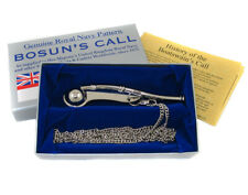 More details for royal navy bosuns whistle rn boatswains call nickel plated sea cadet
