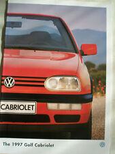 VW Golf Cabriolet brochure 1997