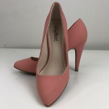 Anne Michelle Pump Stilettos Adoncia Size 9 Peach Tangerine Orange Shoe