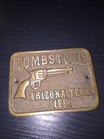 Tombstone Strong Box Plaque Solid Metal Brass Finish Patina Cast Iron WOW Ex/Vg