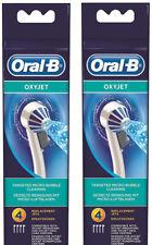 Braun Oral-B Ersatzdüsen OXYJET 2x 4er Pack 8 Stk. Düse Neu