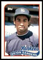 1989 Topps Traded RC Deion Sanders Rookie New York Yankees #110T