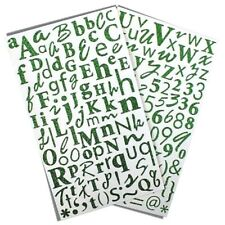 Dovecraft Alphabet Glitter Fabric Stickers Choose Colour Green Emerald