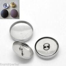 125 sets Bijoux Boutons à recouvrir Aluminum Loisir Créatif 21mmx21mm 20mmx20mm