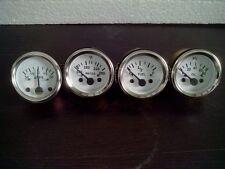 2 52mm Electrical Oil Pressure Temperature 30 Amps Fuel Gauge White