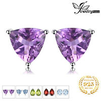 JewelryPalace Birthstone Topaz 925 Sterling Silver Combination Stud Earrings