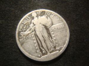 1919-D  Weak Readable Date Standing Liberty Quarter DZX