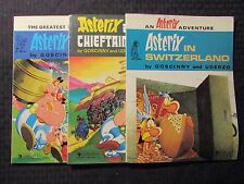 1987 ASTERIX Advetures LOT of 3 FN-/FN Dargaud SC English Britain Switzerland ++