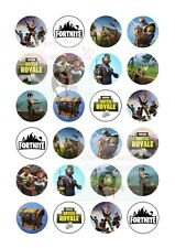 FORTNITE CUPCAKE TOPPERS x24 BUY 1 GET 1 HALF PRICE! EDIBLE FAIRY CAKE TOPPERS