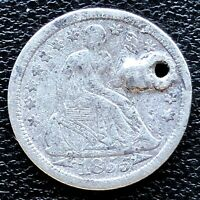 1855 Seated Liberty Dime 10c High Grade XF Det. #18650